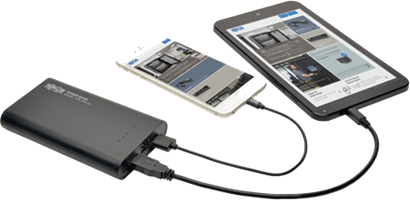 Tripp Lite 12,000 mAh Portable Dual-Port Mobile USB Power Bank