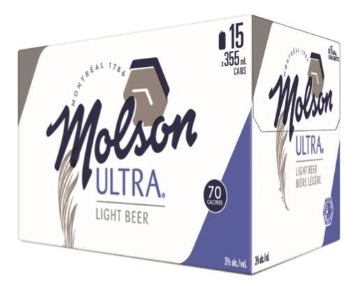 15C Molson Ultra 5325ml