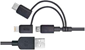 PureGear 3-in-1 4' Charge-sync Cord for Lightning, microUSB, and USB Type-C Devices