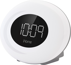 iHome Color Changing FM Alarm Clock w/USB