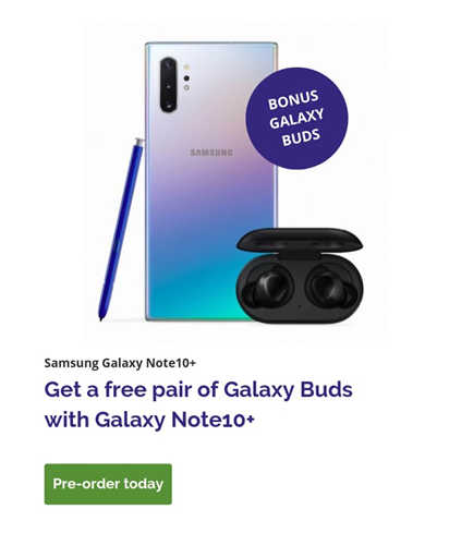 Galaxy Note10+ Pre-Order at Tom Harris TELUS & Koodo Stores