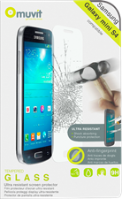 Muvit Galaxy S4 Mini 0.33mm Tempered Glass Screen Protector