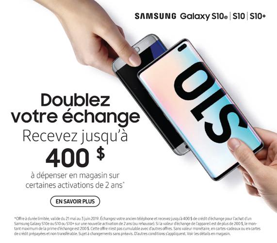 Samsung Galaxy S10 echange
