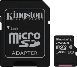 Kingston MicroSDXC Class 10 Flash Memory Card SDCS