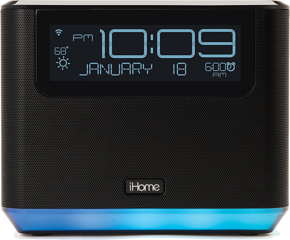 iHome Bluetooth Alarm Clock System w/Alexa Voice Assistant