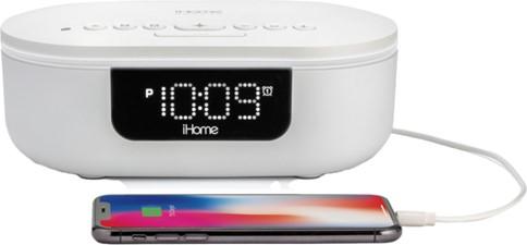 iHome - 360°UV-C Sanitizer w/BT, Wireless and USB Charging