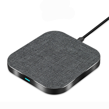 Quad Charge Fast Wireless Charger 15W Alloy Square Gray