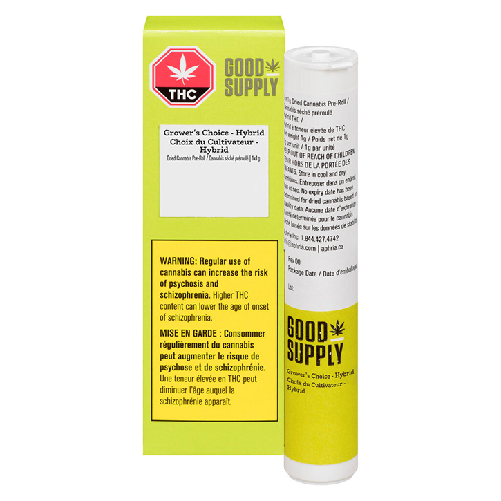 Grower's Choice Hybrid - Good Supply - Pre-Roll