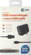 AT&T USB Travel Charger with micro USB Cable
