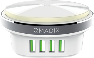 Qmadix - 4 Port Travel Charging Hub 4.4 A - White