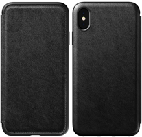 Nomad iPhone XS Max Rugged Leather Folio Case