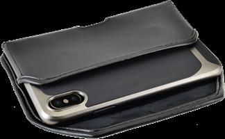 Turtleback iPhone X/XS Leather Executive Horizontal Belt Clip