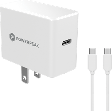 PowerPeak 18W PD Wall charger with Type C cable