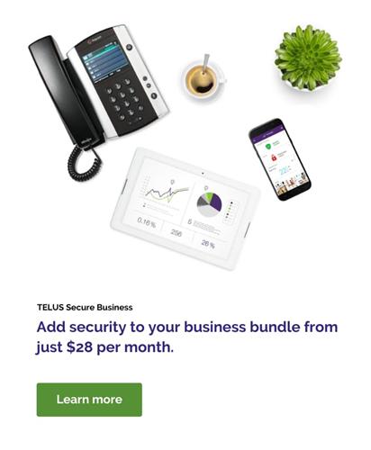 TELUS Secure Business - TELUS Business Bundles