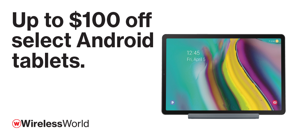 Up to $100 off select Android tablets