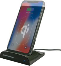 Scosche - 10W 5000 mAh Qidock Wireless Charging Stand And Power Bank