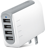 Naztech N260 4.8A Quad USB Wall Charger