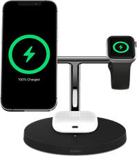 Belkin Boost Charge Pro 3 In 1 Magsafe Wireless Charging Stand 15w