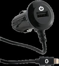 Powerocks 3.4A Lightning Car Charger w/extra USB