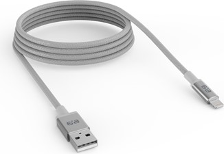 PureGear - USB-A to Lightning Braided Charge and Sync Cable (120cm) - Space Grey