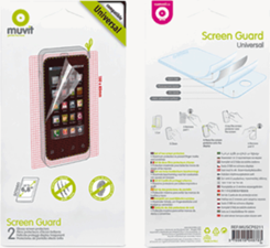 Muvit Universal Clear Anti-Fingerprint 150*85mm 2pk Screen Protector