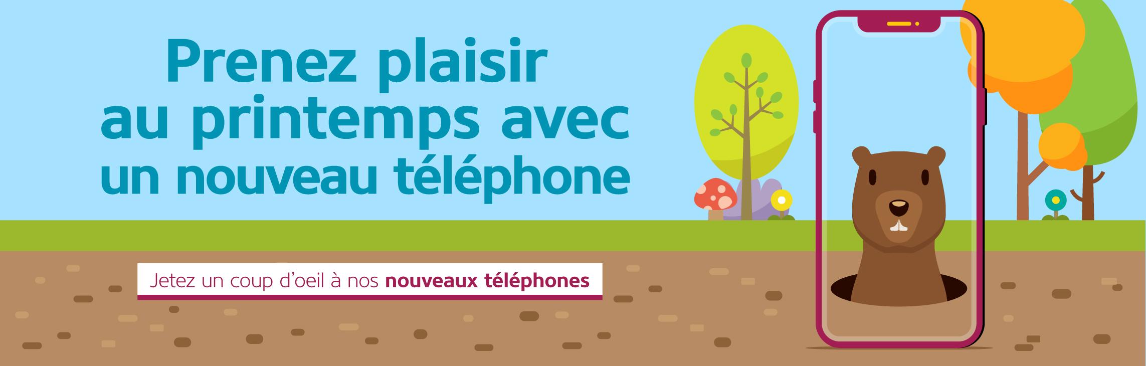 Prenez plaisir au printemps avec un nouveau telephone