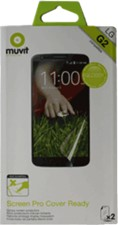 Muvit LG G2 Cover Ready Screen Protector 2pk VZW