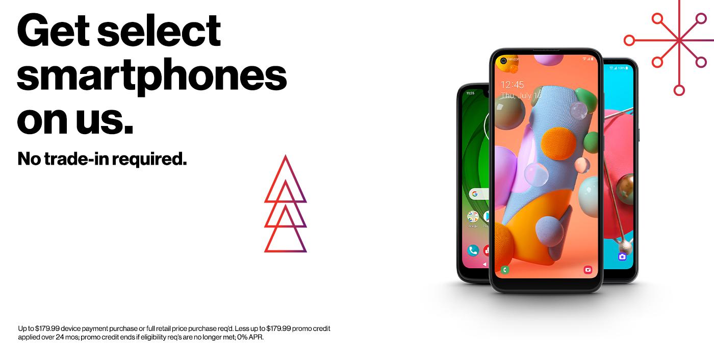 Get select smartphones free