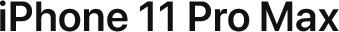 Apple iPhone 11 Pro MAX logo