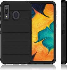Bulk Packaging Galaxy A50 - Holster Shell Combo - Black