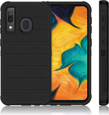 Bulk Packaging Galaxy A50 - Holster Shell Combo - Black