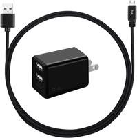 Blu Element 3.4A Dual USB Wall Charger w/ microUSB Cable