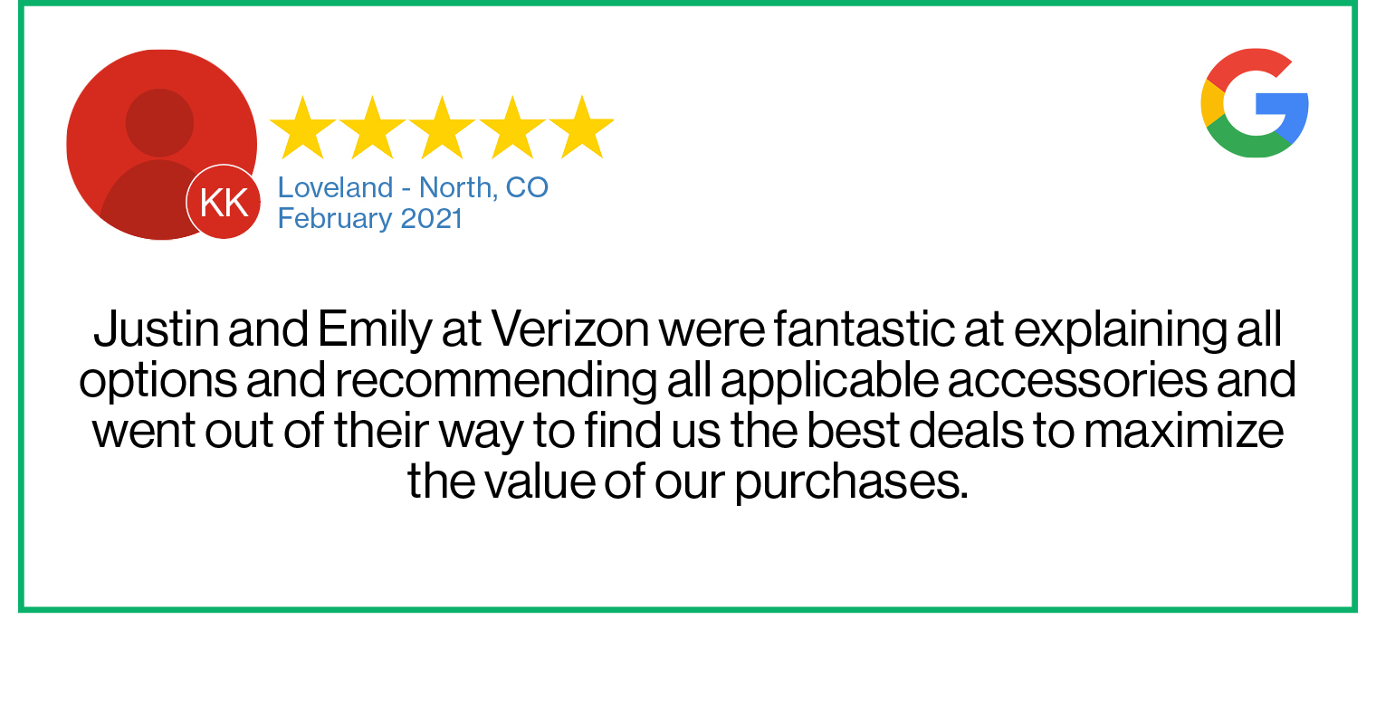 Check out this recent customer review about the Verizon Cellular Plus store in Loveland, Colorado.