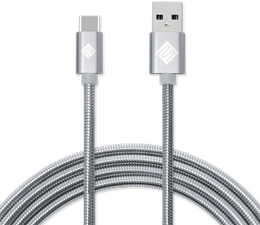 Qmadix 3.3' Full Metal Jacket USB-A to USB-C Cable