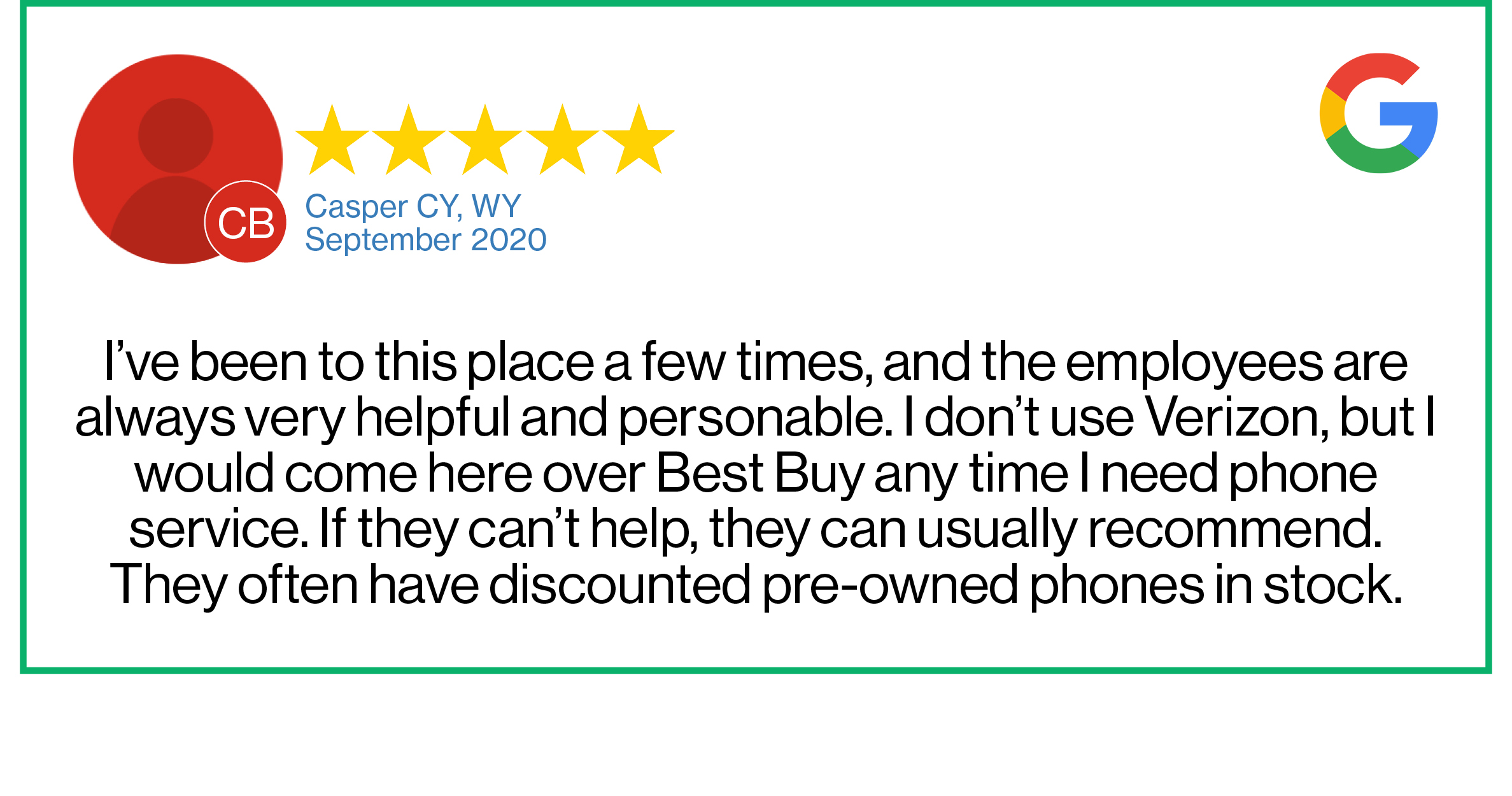 Check out this recent customer review about the Verizon Cellular Plus store in Casper, Wyoming.