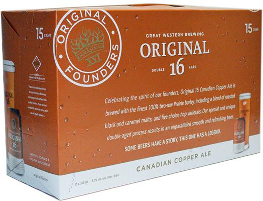 Great Western Brewing Company 15C Original 16 Cdn Copper Ale