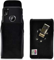 iPhone 11/Pro/Pro Max/XS/X Turtleback Leather Holster w/ Rotating Horizontal Belt Clip