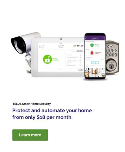 TELUS SmartHome Security Plans