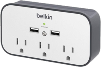 Belkin SurgePlus 3-Outlet & Dual-USB Wall Mount Charger & Cradle