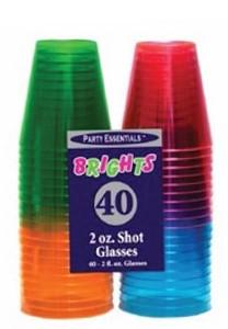 Smith & Doyle 2oz Neon Shot Glasses
