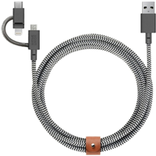 Native Union Belt Cable 3-in-1 Micro-USB, Lightning, USB-C 6.5'