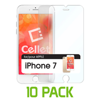 iPhone 7 Cellet Premium Tempered Glass Screen Protector 10 Pack