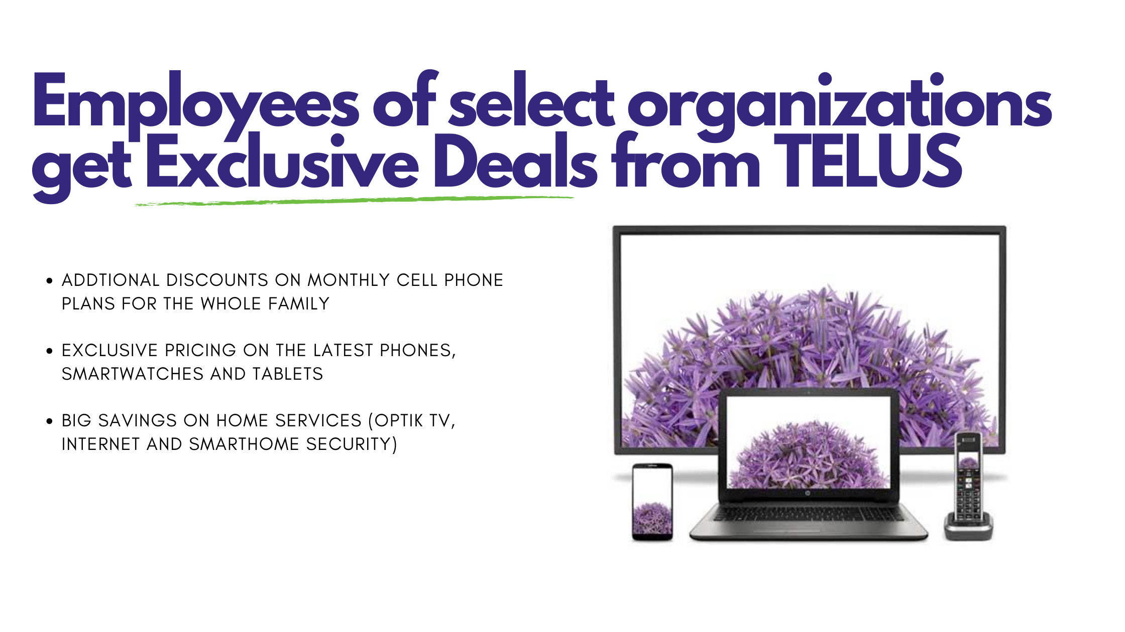 Employees of select organizations get Exclusive Deals from TELUS