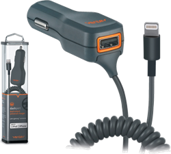 Ventev Dual 1A Dashport 2100c Car Charger with Lightning