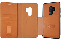 Uunique Galaxy S9 Plus Genuine Leather 2-in-1 Detachable Folio Case