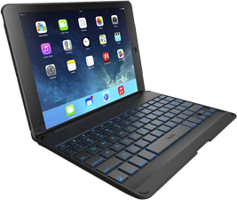 Zagg iPad Pro 9.7 Folio Case With Backlit Bluetooth Keyboard