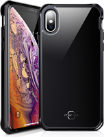 ITSKINS iPhone XS/X Hybrid Glass Iridium Case