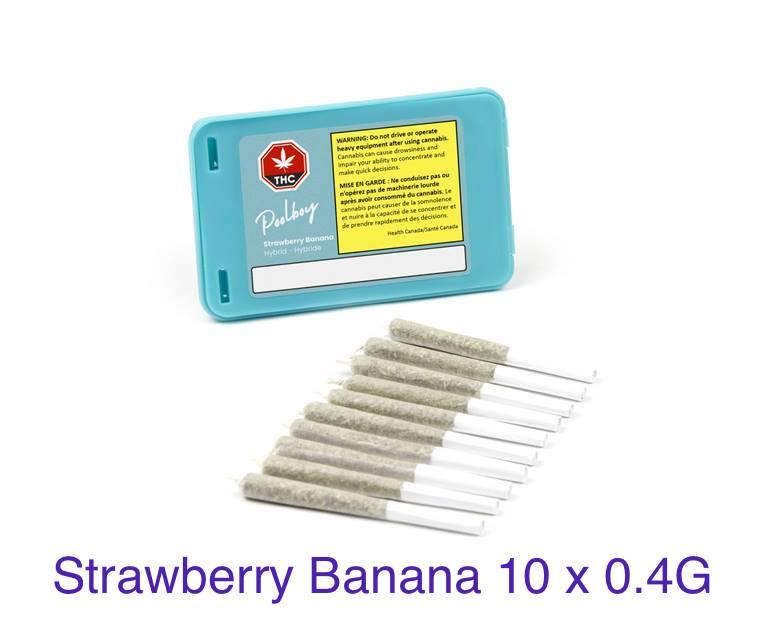 Poolboy - Strawberry Banana 10x0.4g Pre-Rolls Image