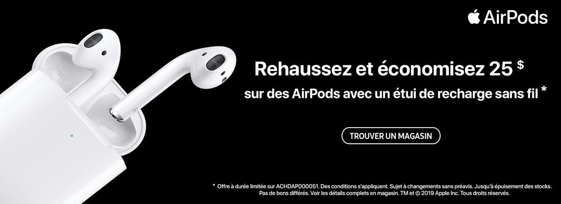 Trouver un magasin - Économisez 20$ sur des AirPods