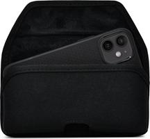 iPhone 12 Mini Turtleback Nylon Holster w/Heavy Duty Horizontal Metal Belt Clip